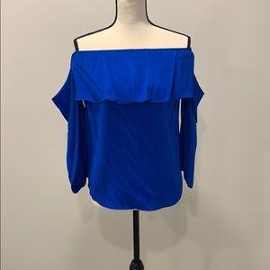 HABITAT- Off the Shoulder blouse 100% SILK
